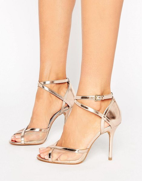 "Head Over Heels Head Over Heels By Dune Meryl Rose Gold Heeled Sandals in gold - """"Heels by Head Over Heels by Dune, Faux-leather upper,..."