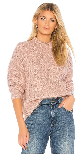 Heartloom hazel sweater in mauve