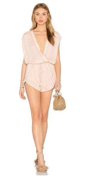 Heartloom Mari Romper in peach