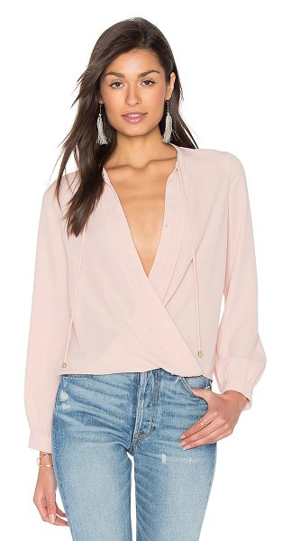 Heartloom Olivia Top in buff - Poly blend. Hand wash cold. Surplice neckline with...