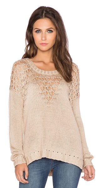 Heartloom Sian sweater in beige - Cotton blend. Hand wash cold. Rib knit edges. HEAR-WK40....