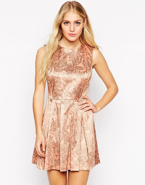 Hedonia Lottie jacquard skater dress in pink print - Evening dress by Hedonia Jacquard fabric Round neckline...