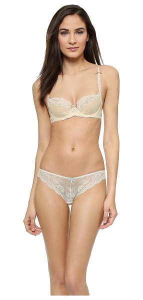 HEIDI KLUM INTIMATES Amelie contour bra - Woven ribbons and scalloped edges accent this lace Heidi...
