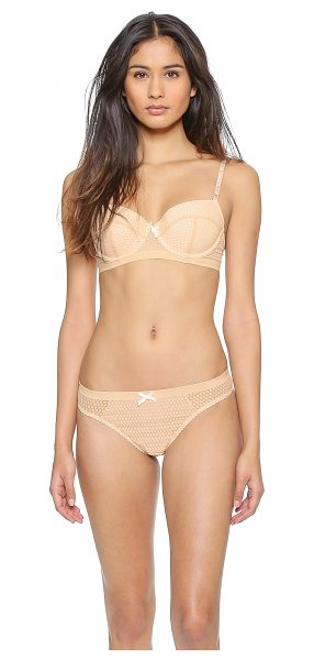 Heidi Klum Intimates leise contour balconette bra in american nude - Patterned lace and contrast lining accent this Heidi...
