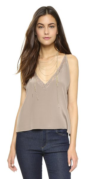 Helena Quinn Cara tank in mauve - A delicate Helena Quinn tank crafted in luxe silk. Lace...