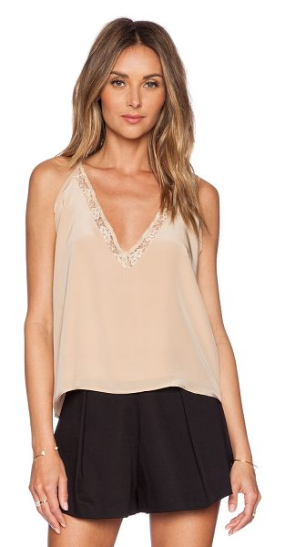 Helena Quinn Cara tank in beige - Self: 100% silkLining: 100% poly. Dry clean only....