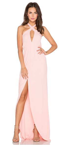 Helena Quinn Mariella Maxi Dress in peach - 80% poly 20% silk. Dry clean only. Bustline to hem...