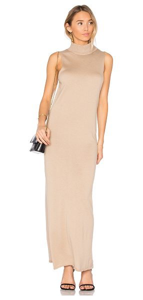 HELFRICH Carl Maxi Dress in camel - 100% cotton. Dry clean only. Unlined. Knit fabric....