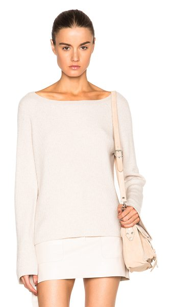 Helmut Lang Cashmere Wool Sweater in shell - Self: 70% wool 30% cashmereTrim: 100% poly. Made in...