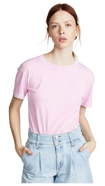 Helmut Lang distressed t-shirt in disco pink - Fabric: Jersey Distressed T-shirt style Waist-length...