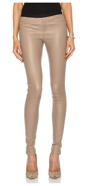 Helmut Lang Leather legging in neutrals - 100% lambskin leather.  Made in China.  Elastic waist. ...