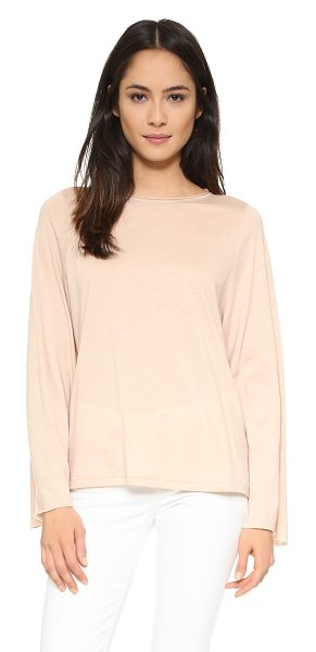 HELMUT LANG Long sleeve top in nude - An oversized profile lends an easy feel to this soft...
