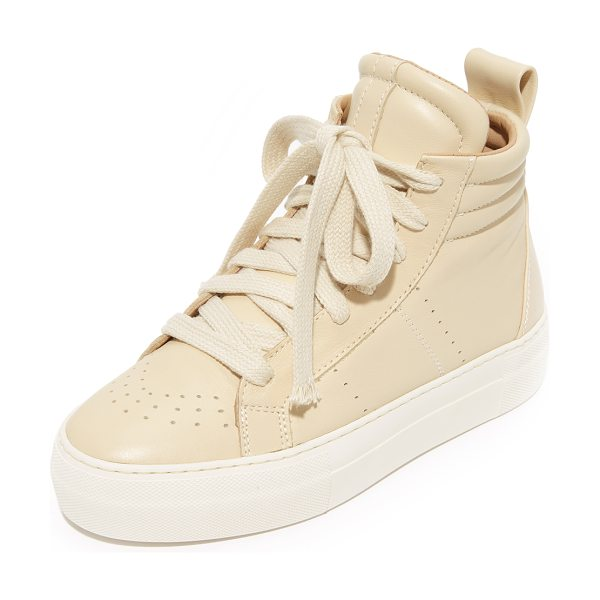 HELMUT LANG padded high top sneakers - Retro-inspired Helmut Lang sneakers styled with subtle...