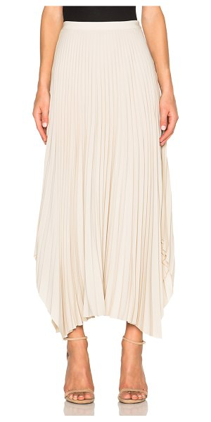 Helmut Lang Pleated skirt in neutrals - 59% acetate 41% silk.  Made in China.  Pleated fabric. ...