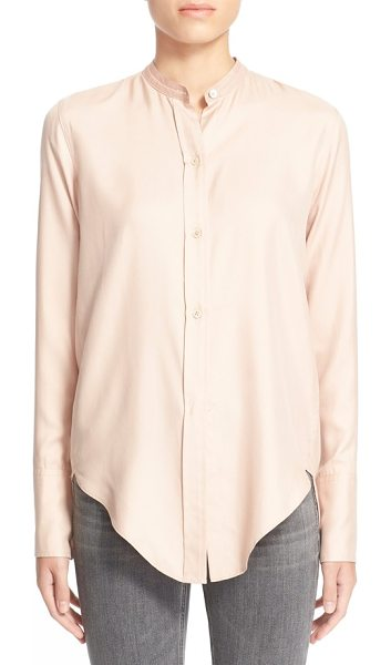 Helmut Lang silk blouse in apricot