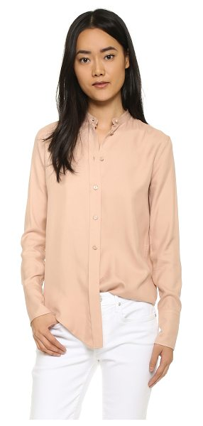 Helmut Lang Silk tuxedo shirt in apricot - A slouchy Helmut Lang shirt in luxe silk. Rounded hem....