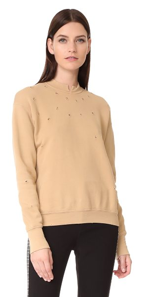 Helmut Lang slash neck sweatshirt in nude - This cozy Helmut Lang sweatshirt is detailed with a...