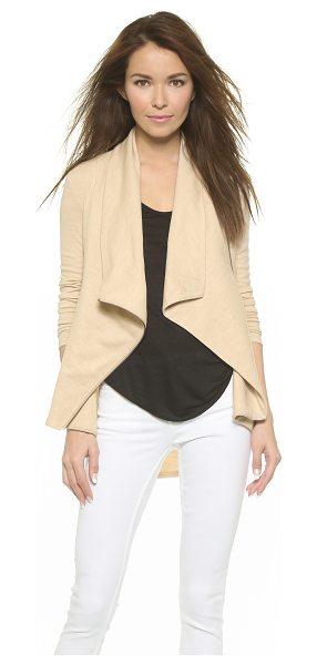 Helmut Lang Sonar wool shawl collar jacket in tan heather - Helmut Lang jacket puts a sophisticated spin on...