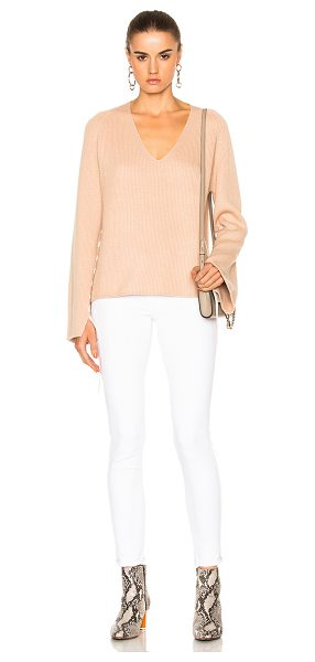 Helmut Lang V Neck Sweater in sandstorm