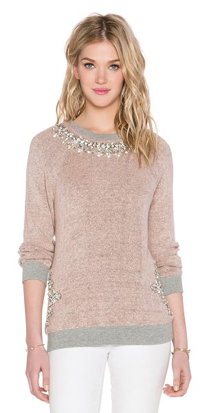 HEMANT AND NANDITA X revolve crystal neckline sweatshirt in pink - 80% acrylic 13% terylene 4% lycra 3% silver. Dry clean...