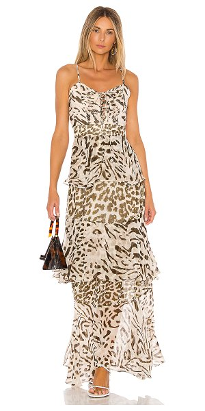 HEMANT AND NANDITA x revolve rika maxi dress in brown