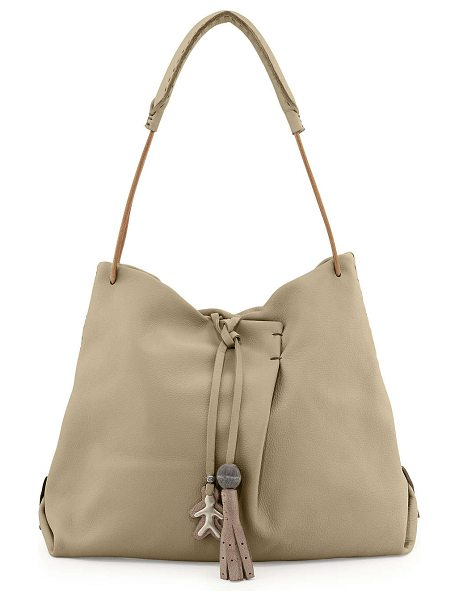 Henry Beguelin Cervo soft leather hobo bag in natural
