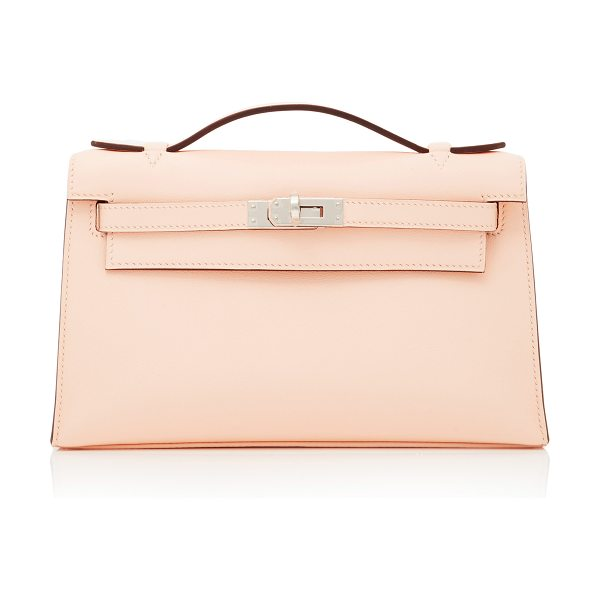 Heritage Auctions Special Collections Hermes Rose Eglantine Swift Leather Kelly Pochette in pink - This Hermes Kelly Pochette brought to you by *Heritage...