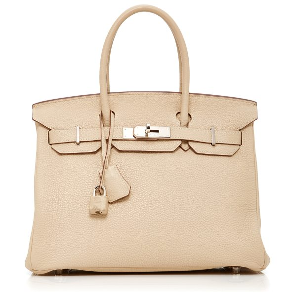 Heritage Auctions Special Collections Hermès 30cm Parchment Clemence Leather Birkin in neutral - This Hermès Birkin brought to you by *Heritage Auctions...