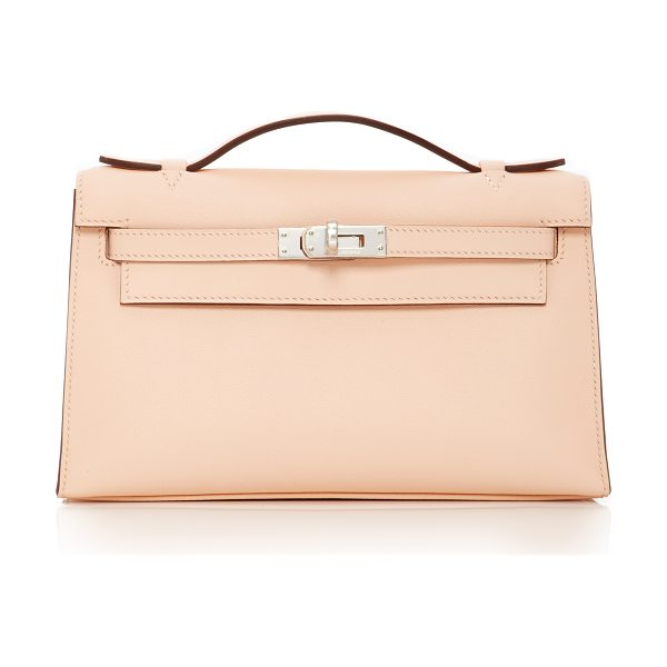 Heritage Auctions Special Collections Hermès Eglantine Swift Leather Kelly Pochette in neutral - This Hermès Kelly Pochette brought to you by *Heritage...