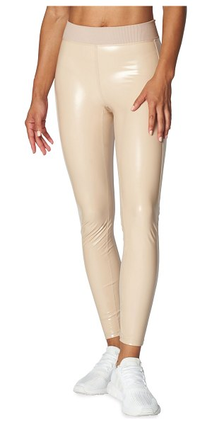 Heroine Sport 4-Way Stretch Patent Leggings in nude patent