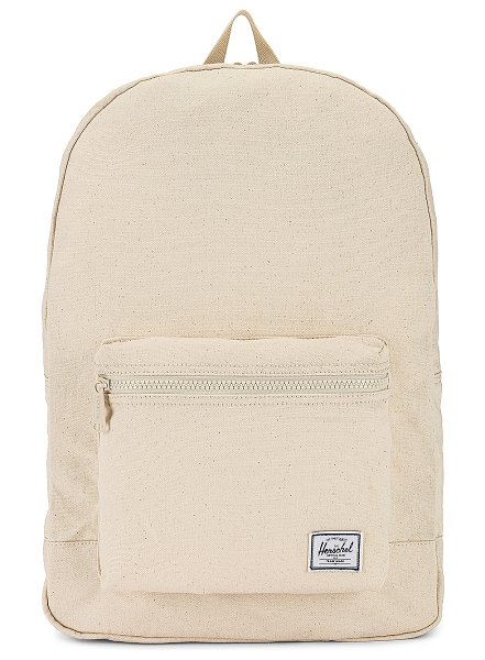 Herschel Supply Co. cotton casuals packable daypack in natural