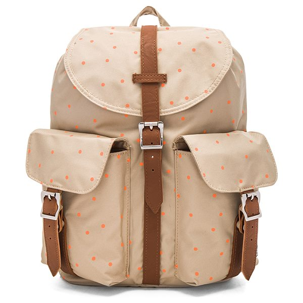 Herschel Supply Co. Dawson backpack in tan - Poly fabric exterior with printed poly lining. Flap top...