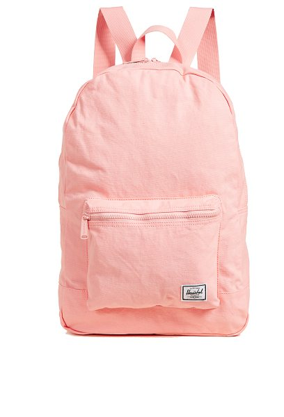 Herschel Supply Co. daypack backpack in peach - Fabric: Canvas Zip at top Zip exterior pockets Shoulder...