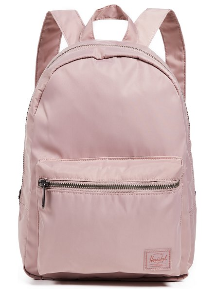 Herschel Supply Co. flight satin grove x small backpack in ash rose - Fabric: Technical weave Brand patch Zip at top Zip...