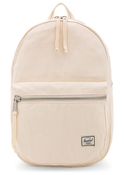 Herschel Supply Co. Surplus Lawson Backpack in cream - Cotton fabric exterior with printed poly lining. Zip...