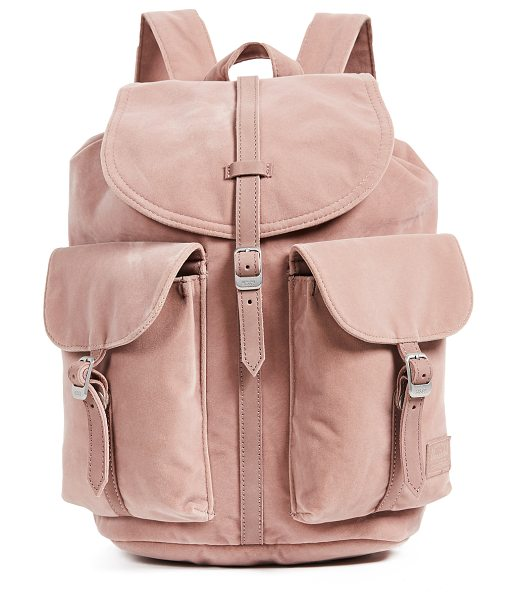 Herschel Supply Co. velvet dawson backpack in ash rose - A signature Herschel Supply Co. backpack updated in...