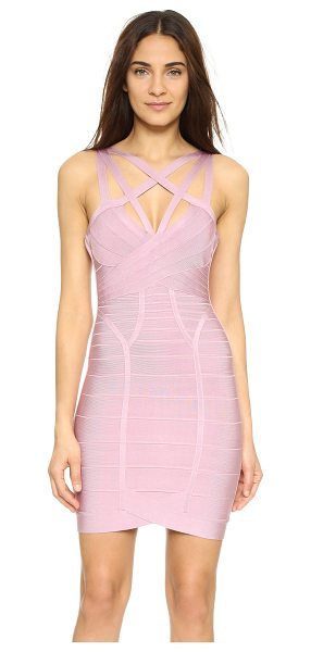 Herve Leger Antonia Sleeveless Dress in desert rose - Exclusive to Shopbop. A curve hugging Herve Leger...