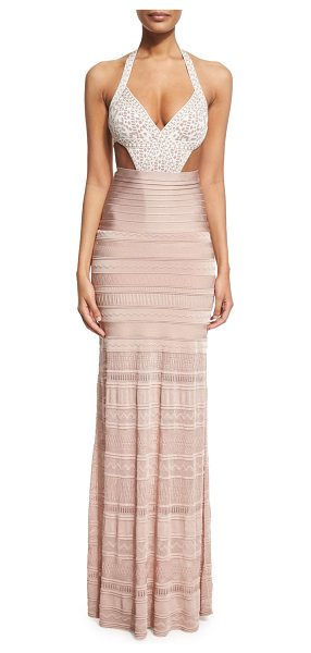 HERVE LEGER Embroidered Bandage Coverup Maxi Skirt - Herve Leger full-length coverup skirt in signature...