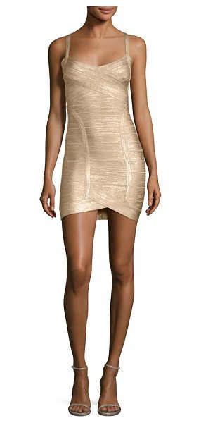 HERVE LEGER kourtney bandage cocktail dress - Shimmering cocktail dress in signature bandage...