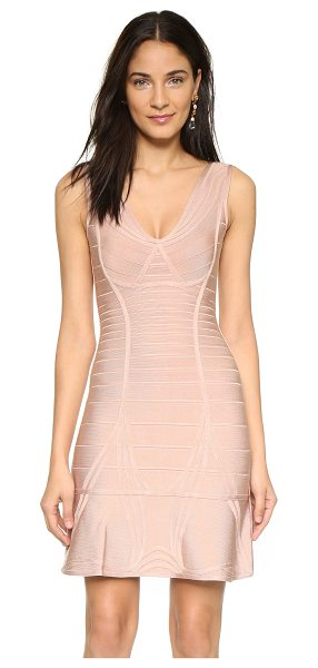 Herve Leger nadja bandage dress in rose blush - An elegant Herve Leger sheath dress with slim,...