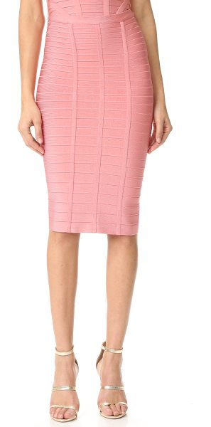 Herve Leger sia pencil skirt in pale coral - Exclusive to Shopbop. An Herve Leger pencil skirt in a...