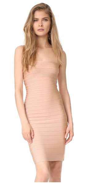 HERVE LEGER strapless fitted dress - A strapless Herve Leger dress in the brand's signature...