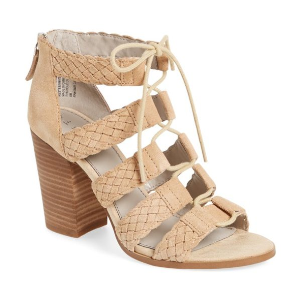 Hinge desi block heel sandal in blush suede - A block-heel sandal perfect for warm-weather outings...
