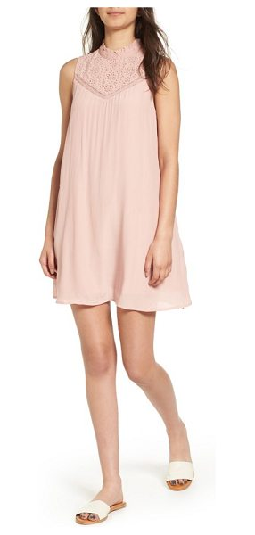 Hinge lace yoke shift dress in pink misty - A ladylike look perfect for bridal events, this...