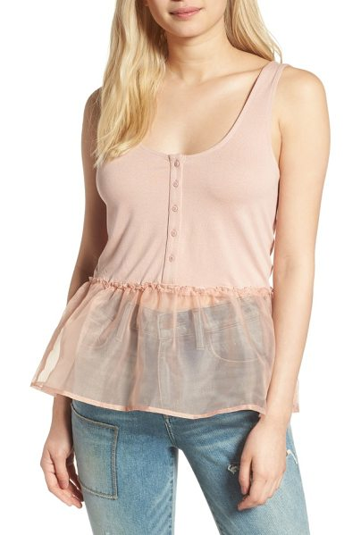 HINGE organza peplum henley tank - Never lose sight of your ballerina dreams in this jersey...