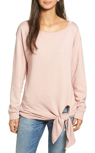 HINGE tie front pullover - When you want to stay cozy and still head out to a fancy...
