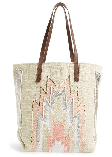 HIPANEMA Amenapih peruano tote - Shimmering beads highlight the earthy geo patterns of a...