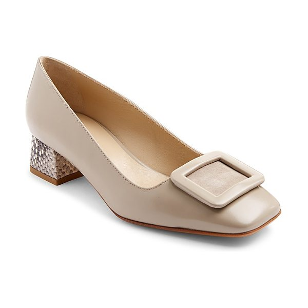 Hobbs London Jess Block Heel Court Pumps in putty stone - Hobbs London Jess Block Heel Court Pumps-Women