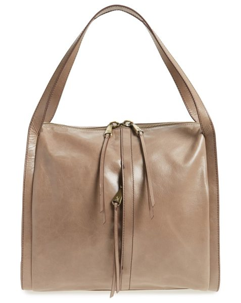 Hobo century leather shopper in espresso - With its charming, boxy silhouette and glossy, glazed...