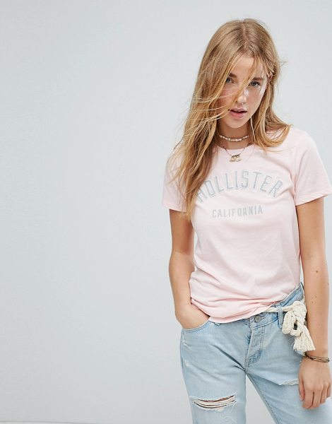HOLLISTER Logo T-shirt - T-shirt by Hollister, Cotton-rich jersey, Crew neck, Short...